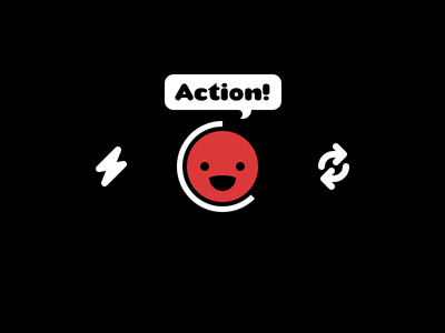 Action! flash record timer switch camera bubble button ui