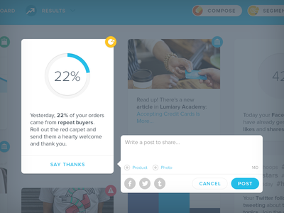 Compose share post insight stat dashboard