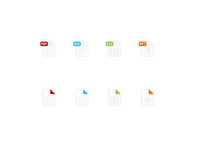 File Types remind file icons pdf document excel powerpoint