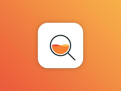 Searph App Icon water wave search ios icon app