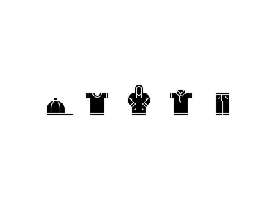 Apparel bottoms tops pants polo hoodie t-shirt hat clothes icons