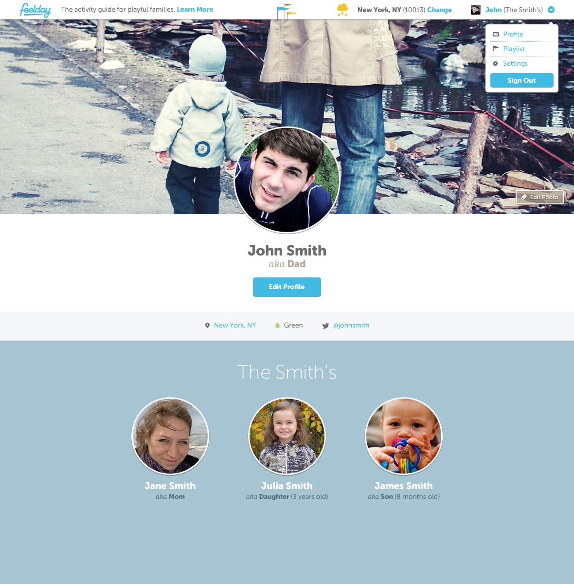 Feelday profile v1.1