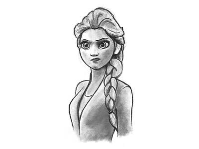 Elsa procreate sketch frozen elsa
