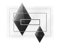 Diamonds geometric charcoal tone form sketch diamonds