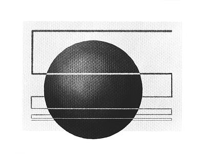 Sphere phasing sphere form sketch tone