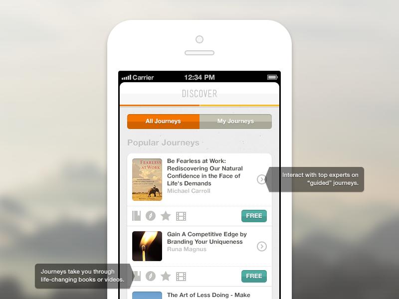 Cojourneo Homepage iphone app mobile responsive