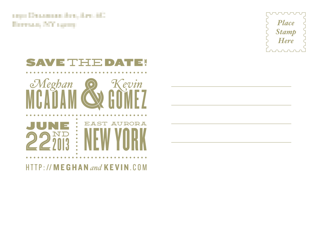 save the date postcard back | Wedding Ideas - other | Pinterest ...