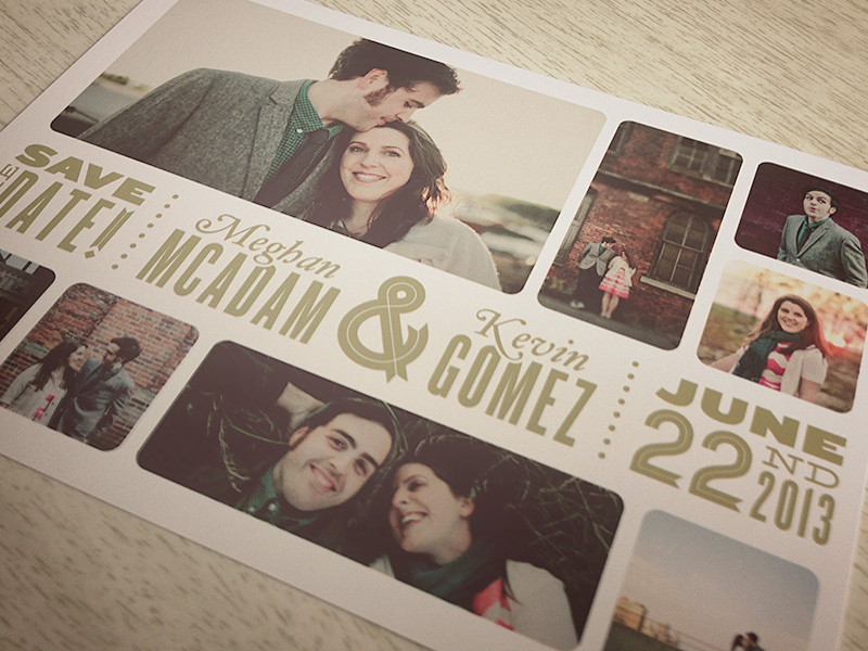 Save The Date save the date wedding postcard engagement photos