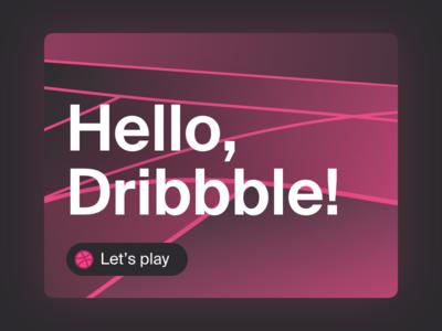 Hello, Dribbble! basketball court debut card ui