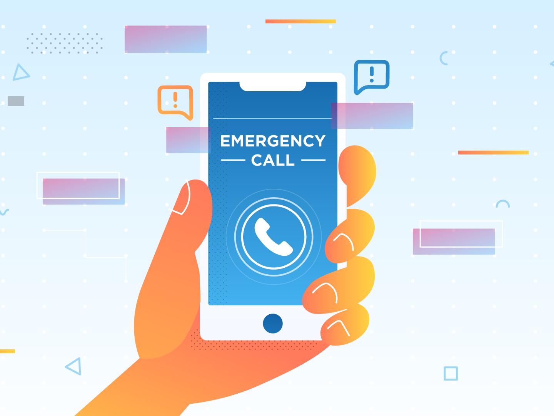 Emergency Call emergency illustration phone