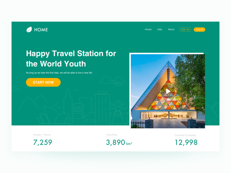 Homepage for City Travel interface ux uidesign ui travel building website city webdesign homepage