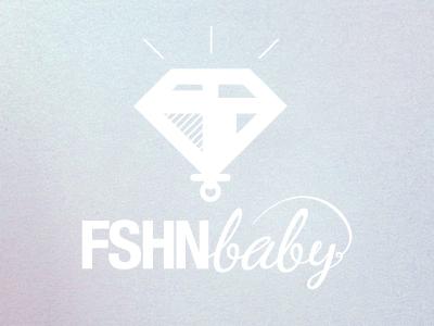 FASHIONbaby logo typo fashion baby diamond pacifier script noise babyblue