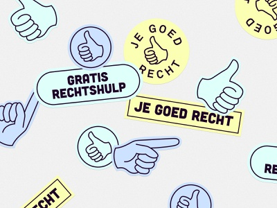 Foundation Je Goed Recht - Stickers art graphic design vector minimal flat logo illustration icon design branding
