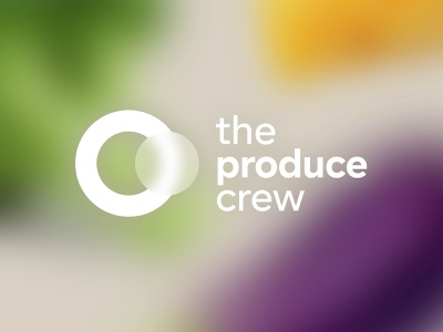 The Produce Crew – Logo fresh colour colourful fresh produce typography graphic design vector minimal logo illustration icon flat design branding
