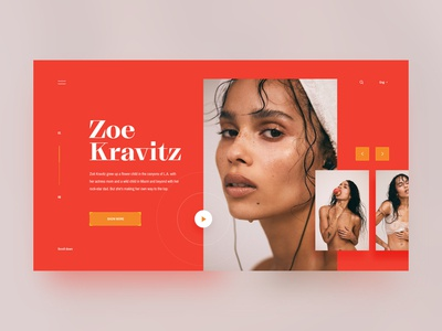 Photography landing page ~concept~