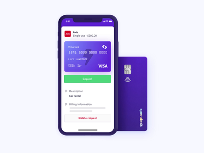 Spendesk Pay Product Visual 2/4 uxui product visual motion design features design app spendesk branding motion graphics animation