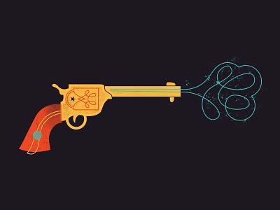 Shoot, bang! revolver gun smoke western cowboy star handgun shoot