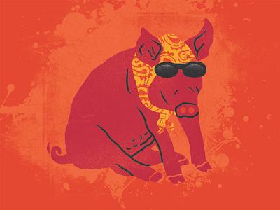 Hoggie grandma badass fatty siroinksalot bandana pig hog