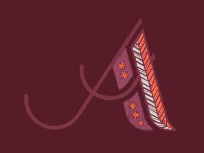 A for my Homie flower letter african typography a pattern gambia