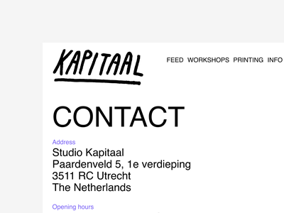 Kapitaal's new site simple silkscreen figma blunt lomp helvetica basic interface design webdesign ui