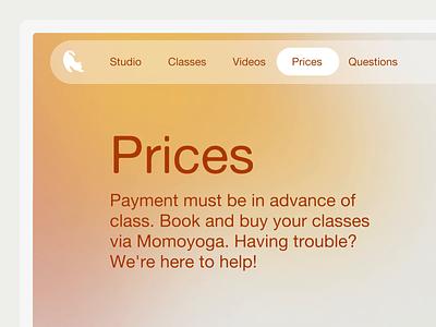 New site for yoga spot Studio Natuurlijk dude out chill yoga icon webdesign interface gradient gradients