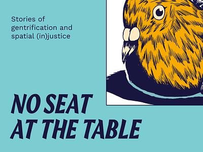 No Seat at the Table bird map cities gentrification platform stories branding user interface webdesign design ux interface ui