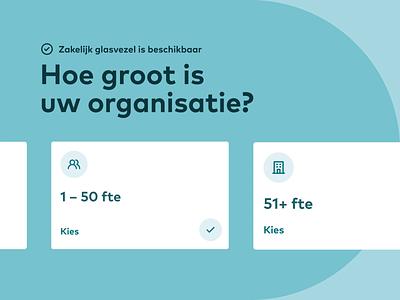 Eurofiber Business Fiberoptic Network – Platform Redesign user interface webdesign ux design interface ui choose icon shape pill zoom slider animation card