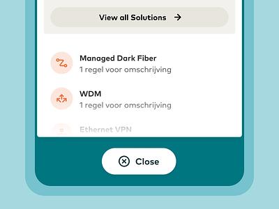 Eurofiber Business Fiberoptic Network – Platform Redesign user interface webdesign web design ux interface ui list service structure information update navigation mobile card