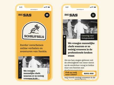 Category Page & Story Page – Met Sas website webdesign ux ui stories stickers mobile illustration chef food cta