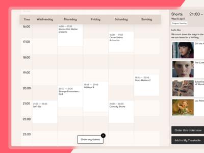 Personal Timetable – Go Short Film Festival