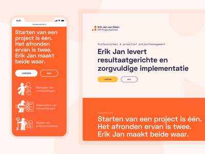 Overview – HR Project Advice dutch pencil man orange resource human hr personal webdesign web ux user interface user experience ui illustration minimal interface design website