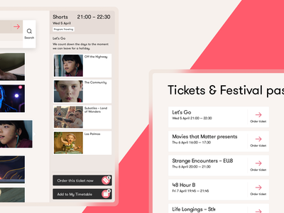 Finding Films and Getting Tickets – Go Short Film Festival checkout feed personal website webdesign web ux user interface user experience ui typography minimal interface design festival timetable