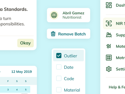 Design System Components – NutriOpt for Nutreco
