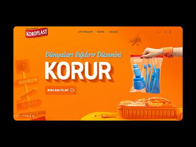 Koroplast Banner Design web design minimal webdesign website sliders webbanner cover design slideshow slider banner design cover animation video background banner ads banners banner