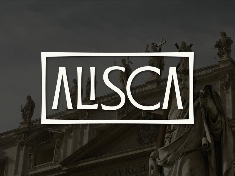 Custom Alisca type winery lettering branding logo wordmark typogaphy