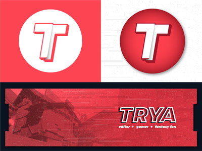 """""""Just a simple T!"""" gaming riotgames riot valorant design branding vector texture glitch modern circular trya mark icon logo t"""