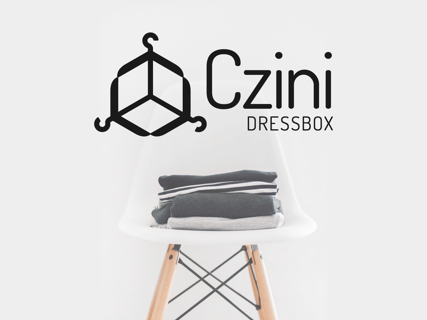 Client Pick for a repurposed clothing e-commerce store. modern design hangers hanger store clothing wordmark icon logo box