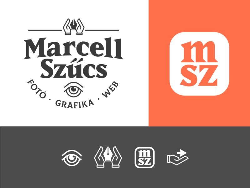 Some personal branding work eye hand icon typography illustration branding identity lettering wordmark logo design