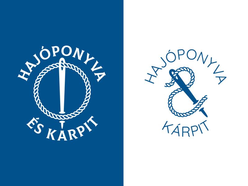 Logo exploration for Boat Cover manufacturer blue rope boat logo knot thread needle ship boat branding wordmark logo