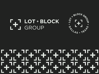 Lot + Block Group - Branding badge texas identity brand pattern pattern plus abstract mark branding logo real estate logo real estate