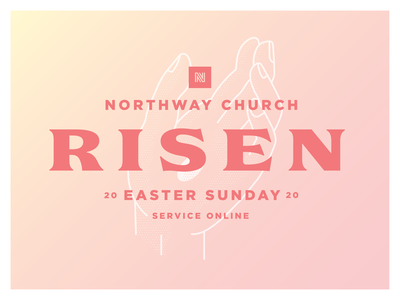 Northway Church - Easter typography gradient hand jesus church illustration easter