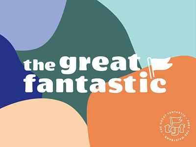 The Great Fantastic - 02 amoeba organic color badge flag typography logomark branding