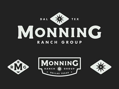 Monning Ranch Group diamond spur star badge mark branding logo real estate branding americana western texas ranch