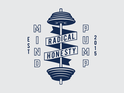 Mind Pump - Radical Honesty apparel design workout barbell fitness apparel branding illustration