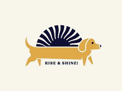 Dachshund Rise & Shine cute morning mug coffee pet sun dog dachshund illustration
