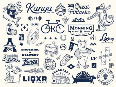 2020 Recap mascot beer americana lettering typography design texas logo branding illustration