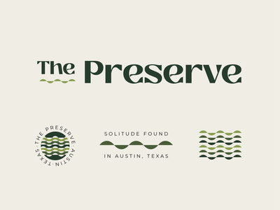 The Preserve - 03 pattern austin logo badge identity texas typography branding nature hills hill country illustration