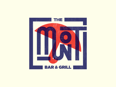 The Mont oklahoma typography lettering letter branding logo type umbrella grill bar identity restaurant