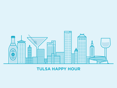Tulsa Happy Hour tulsa oklahoma tech skyline city usa beer bar happy hour liquor