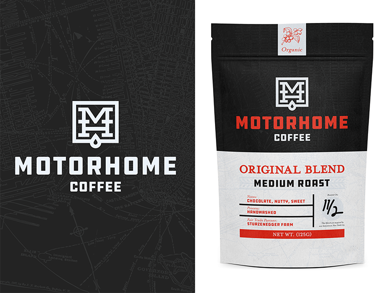 Motorhome coffee mockup dribbble